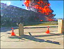 This photo was taken by security cameras outside the Pentagon on September 11.