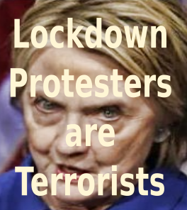 hillary clinton, lockdown protesters, terrorists cultural marxism
